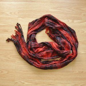 Forever 21 Red Plaid Scarf   Free with Purchase